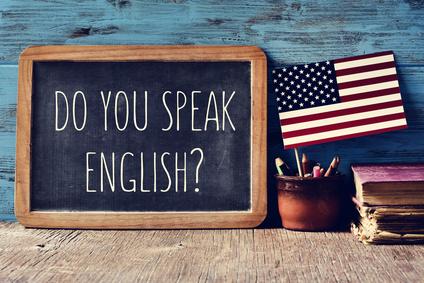 question do you speak English? in a chalkboard